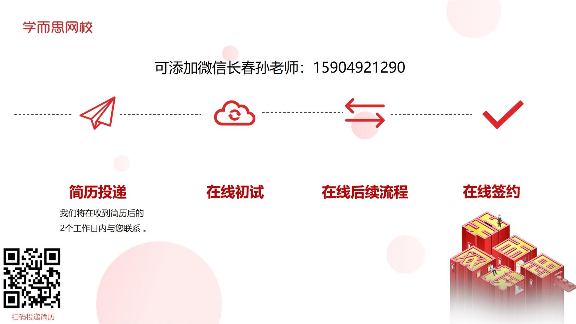 投递方式:可添加孙老师微信;15904921290