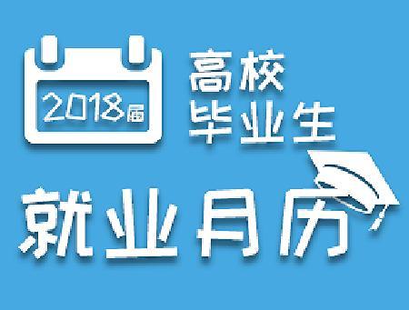 2018届毕业生就业月历